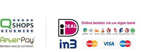 afterpay, ideal en qshops logo`s