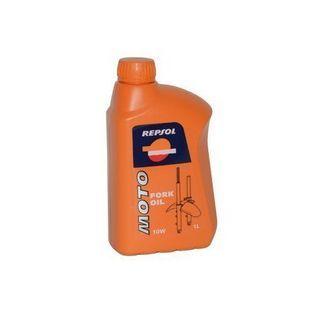 Olie en Vet   scooter / brommer olie voorvork 1L fles repsol 10w