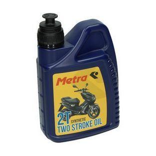 Olie en Vet | olie 2-takt half synthetisch 1L fles metrakit