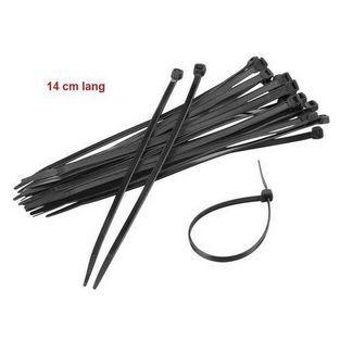 Universeel | kabelbinder 14cm zwart 100pcs
