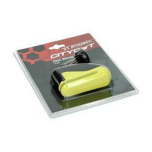 Universeel | schijfremslot met tasje met led-sleutel 10mm geel starry