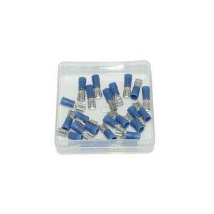 Universeel | kabelstekker plat vrouw 4.8mm blauw 25pcs