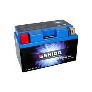 Shido | Shido Lithium Ion ytx7a-bs 6 ampere 12 volt 50cc 4-takt (allround) scooteraccu