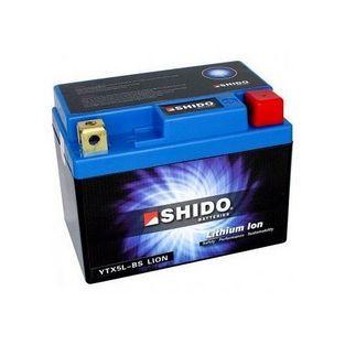 Shido | Shido Lithium Ion ytx5l-bs 5 ampere 12 volt 50cc 2-takt (allround) extra zware scooteraccu