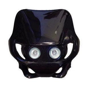 Universeel | koplamp dubbel + koplampspoiler halogeen oud typer / sm zwart DMP