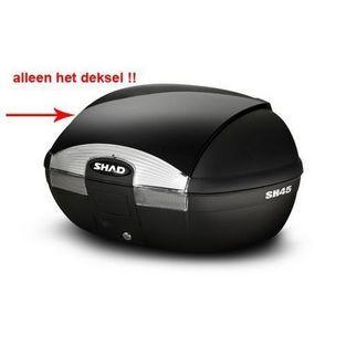 Shad | deksel topkoffer zwart shad sh45