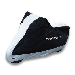 Protect | beschermhoes groot bromfiets / motor L zwart / zilver pro-tect