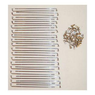 Zundapp | spaken set cs / gts 181mm chroom 36pcs