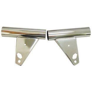Universeel | koplampoor set nieuw type model 529 / 530 chroom