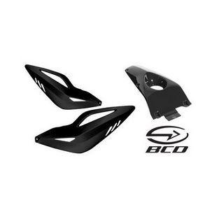 Yamaha | zijkappen set xtreme met seatcover yamaha aerox zwart bcd coque00302 3-delig