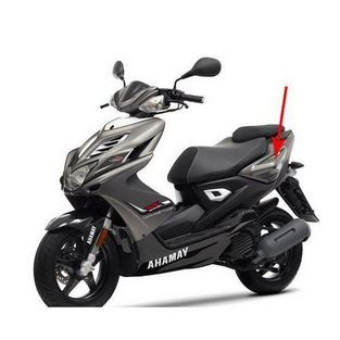 Yamaha   zijkap yamaha aerox 2013 grijs mat links origineel 1phf173100p0