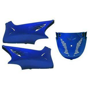 Yamaha | onderspoiler set met schroefset 28019 yamaha aerox blauw chroom DMP=op=op