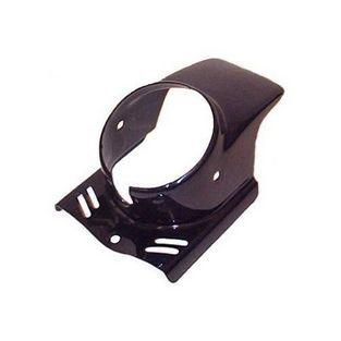 Piaggio | koplampspoiler rond maxi zwart DMP