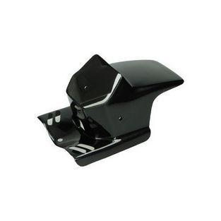 Piaggio | koplampspoiler vierkant cit / maxi zwart DMP