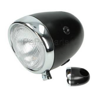Puch   koplamp rond oltimer / model puch 130mm zwart