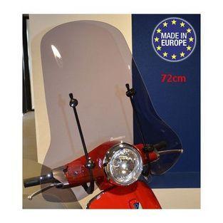 Vespa | windscherm met bevestigingsset hoog (origineel model) vespa primavera smoke
