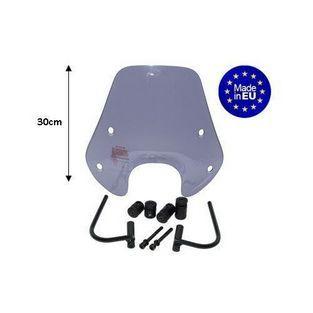 Piaggio | windscherm laag met bevestigingsset (origineel model) zip smoke