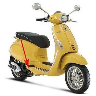 Vespa | afdekkap duo-voetsteun vespa sprint geel 968 / a rechts origineel 67362700l5