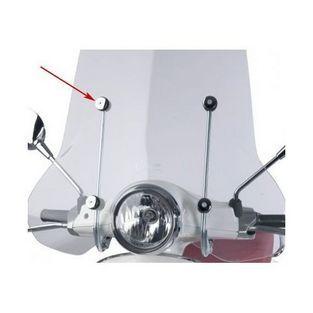 Piaggio | ring windscherm groot piaggio 32mm chroom