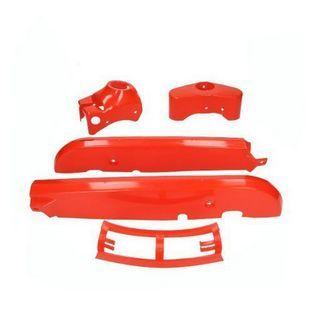 Kreidler | kappenset plastic kreidler rood 4-delig