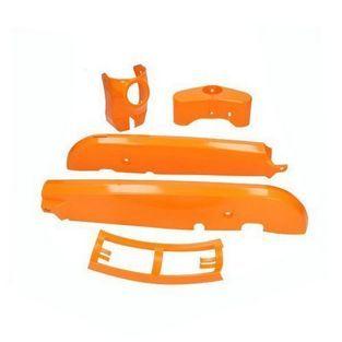 Kreidler | kappenset plastic kreidler oranje 4-delig