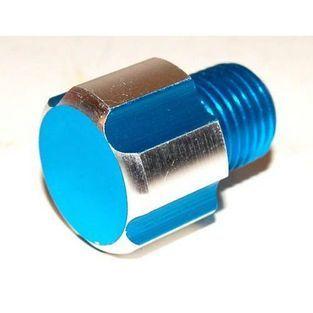 Aprilia | olievulplug minarelli am6 / aprilia senda blauw aluminium DMP