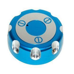 Derbi   benzinetankdop derbi senda blauw aluminium DMP