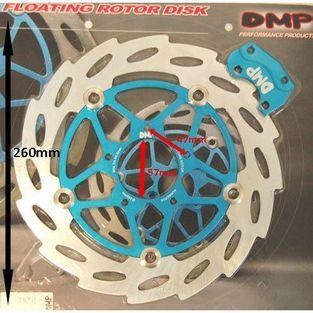 Piaggio | remschijf zwevend oversized gilera runner 260mm voor DMP