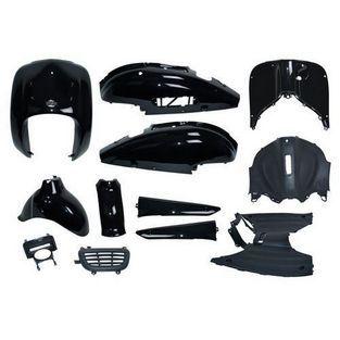 Benzhou | plaatwerkset (retro model china) retro scooter /  torino / agm / fosti /  grande retro zwart origineel 7-delig