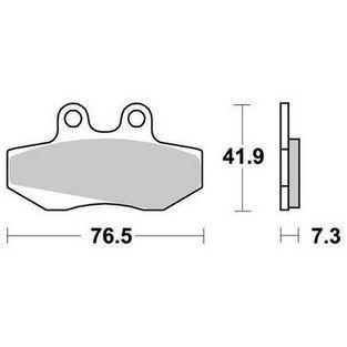 MH | remblokken set derbi gpr / turbho rx voor sbs 148hf