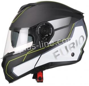 | Helm vito systeemhelm furio mat zwart/geel