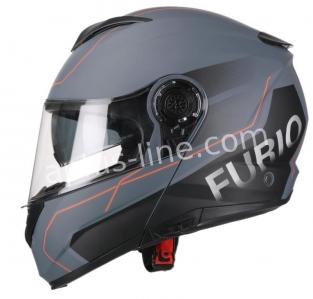 | Helm vito systeemhelm furio mat zwart/rood