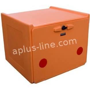   Pizzakoffer oranje dubbel geisoleerd 90 liter