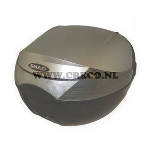 koffer 32 liter kymco mat zilver meta. Black Bedroom Furniture Sets. Home Design Ideas