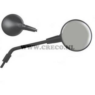Vespa | spiegel vespa primavera 50 125 links mat zwart