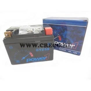 Power 1   Accu Piaggio Zip 2-takt YTX4L-bs 4Ah 12 Volt