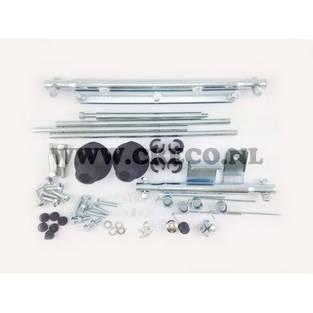 Vespa | valbeugel / sierbeugel set bevestigingsset Vespa S / LX / LXV chroom